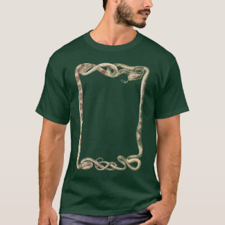 Vintage Reptiles, Entwined Snakes or Vipers Border T-Shirt
