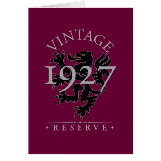 Vintage Reserve 1927 Card