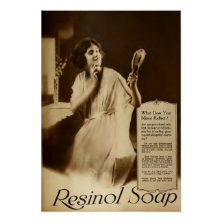 Vintage Resinol Soap Ad With Woman Poster