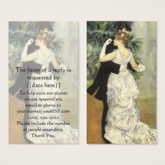 Vintage Response Card, City Dance by Renoir Business Card