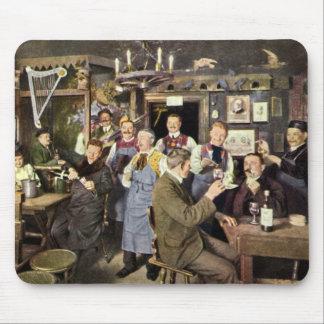 Vintage Restaurant Bar People Celebrating Party Mouse Pads