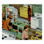 Vintage Retail Business, Appliance Showroom Shop Poster