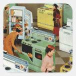 Vintage Retail Business, Appliance Showroom Shop Square Sticker