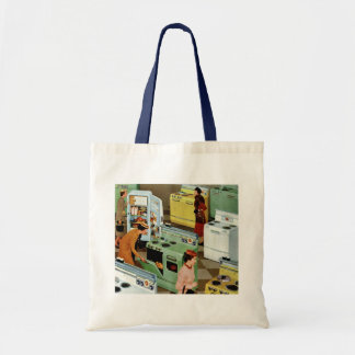 Vintage Retail Business, Appliance Showroom Store Budget Tote Bag
