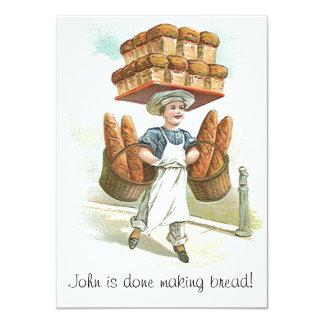 Vintage Retirement Invitations done making bread