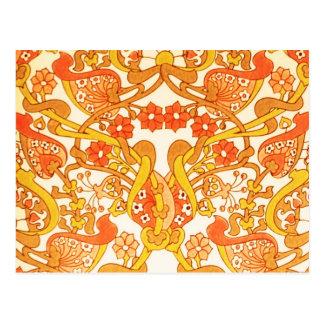 Vintage Retro 1960s Tangerine Postcard