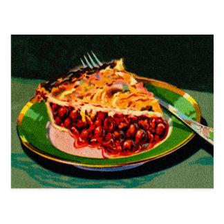 Vintage Retro 20s Fruit Cookbook Art Cherry Pie Postcard