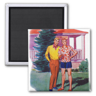 Vintage Retro 50s Gay Men Bob and Rob Magnet