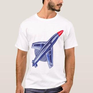 Vintage Retro 50s Jet Airplane Rocket Club Pin T-Shirt