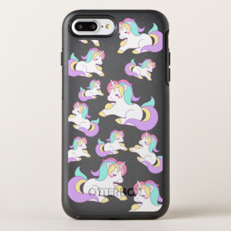 Vintage Retro 80s Unicorn Pattern OtterBox Symmetry iPhone 8 Plus/7 Plus Case