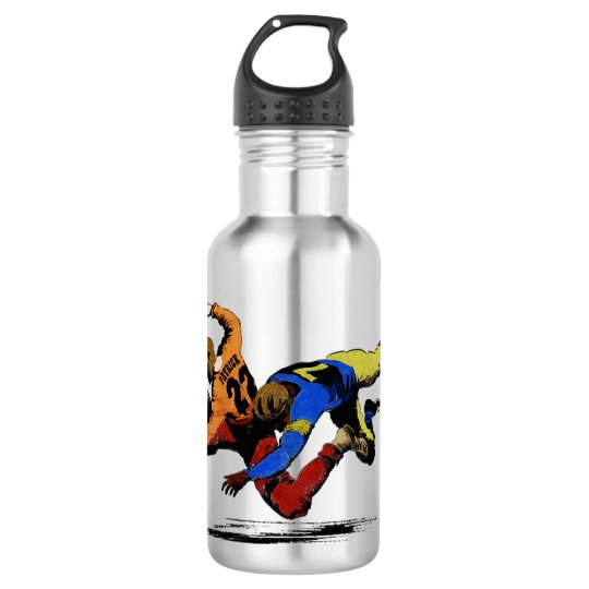 Vintage Retro American Football Players Old Comics 532 Ml Water Bottle