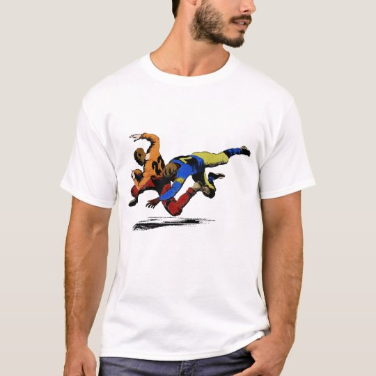 Vintage Retro American Football Players Old Comics T-Shirt