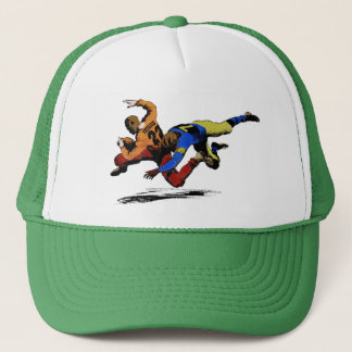 Vintage Retro American Football Players Old Comics Trucker Hat