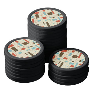 Vintage Retro Art Deco Pattern Poker Chips