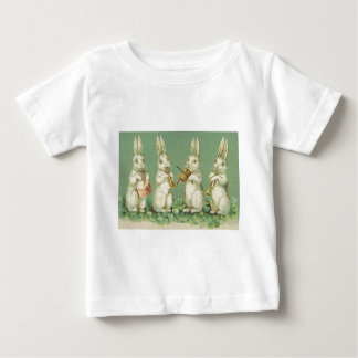 Vintage Retro Art Easter Bunny Bunnies Orchestra Baby T-Shirt