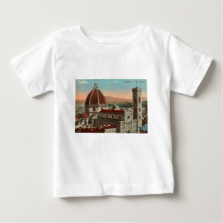 Vintage Retro Art Florence Italy Italia Cathedral Baby T-Shirt