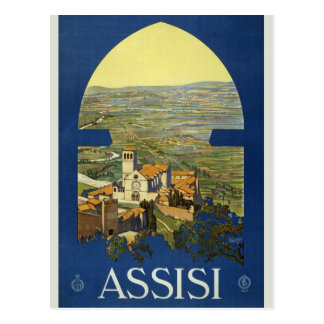 Vintage Retro Assisi Italy Italian Travel Tourism Postcard