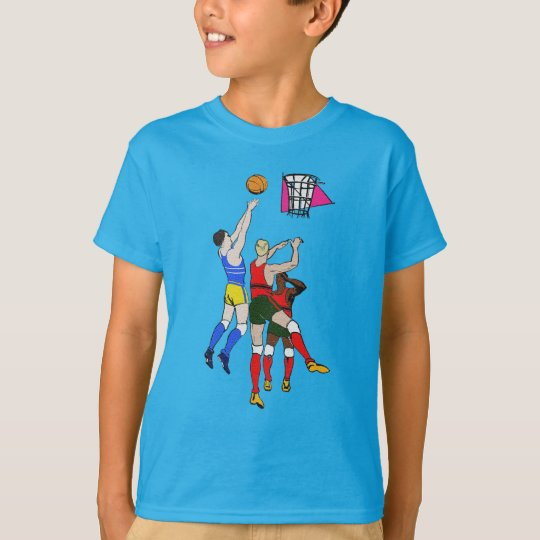 Vintage Retro Basketball Players Old Comics Style T-Shirt