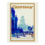 Vintage retro Berlin Germany travel ad Post Cards