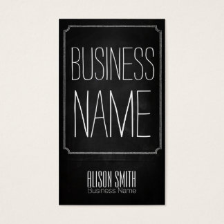 Vintage retro black chalkboard business card