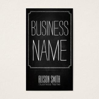Vintage retro black chalkboard business card