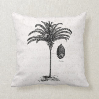 Vintage Retro Brazilian Palm Tree Template Palms Throw Pillow
