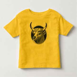 Vintage Retro Bull Cow Toddler Fine Jersey T-Shirt