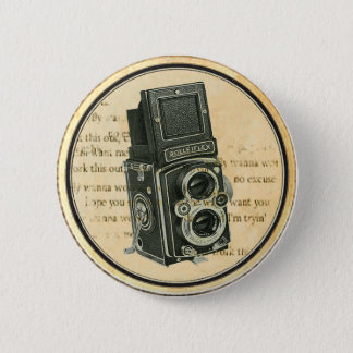 Vintage Retro Camera Photographer Button Pin