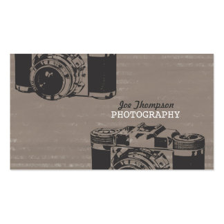 Vintage Retro Camera Professional Photographer Business Card