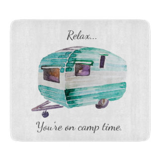 Vintage Retro Camper Camping Cutting Board