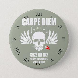 Vintage Retro Carpe Diem. Seize the day 3 Inch Round Button