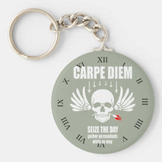 Vintage Retro Carpe Diem. Seize the day Keychain