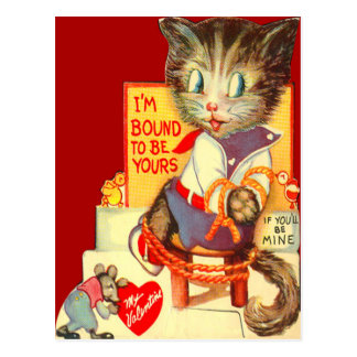 Vintage Retro Cat Kidnapped Valentine Card