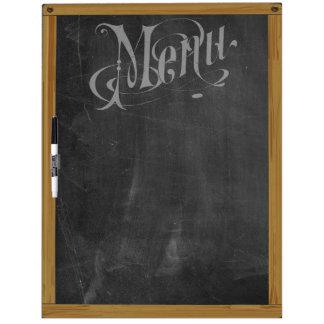 Vintage Retro Chalkboard Typography Menu (L) Dry Erase Board