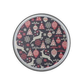 Vintage Retro Christmas Pattern Holiday Bluetooth Speaker