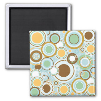 Vintage/Retro Circle Design Magnet