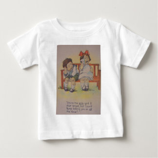 Vintage Retro Crying Valentine Card Baby T-Shirt
