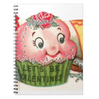 Vintage Retro Cupcake And Teacup Valentine's Day Notebook
