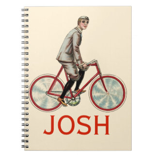 Vintage/Retro Cyclist Personnalised Notebook