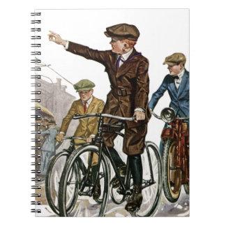Vintage/Retro Cyclists Notebook