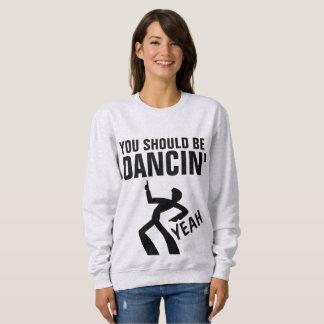 Vintage Retro Disco T-shirts, SHOULD BE DANCIN' Sweatshirt