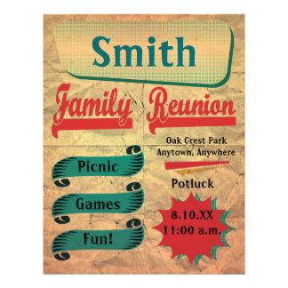 Vintage Retro Family Gathering Reunion Flyer