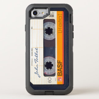 Vintage Retro Fashioned 80s Mixtape Audio Tape 3 OtterBox Defender iPhone 7 Case