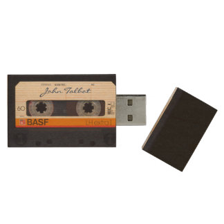 Vintage Retro Fashioned 80s Mixtape Audio Tape USB Wood USB Flash Drive
