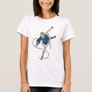 Vintage Retro Figure Skating Girl Old Comics Style T-Shirt