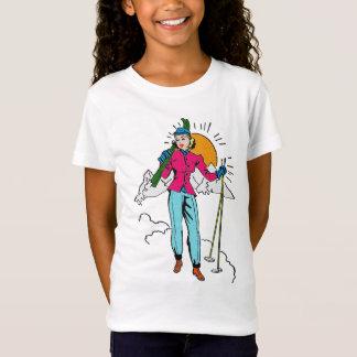 Vintage Retro Figure Skating Girl Old Comics Style T-Shirt
