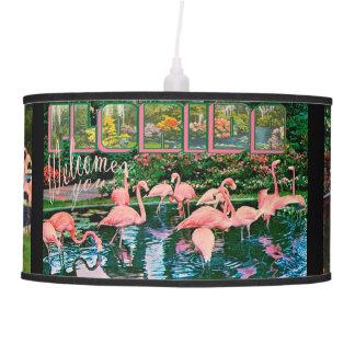 Vintage Retro Flamingo Postcard Lamp