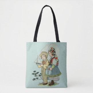 Vintage/Retro French Breton Children Tote Bag