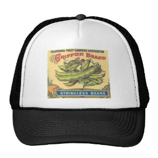 Vintage, Retro Fruit and Vegetable Crate Label Tee Hats