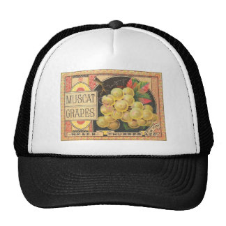 Vintage, Retro Fruit and Vegetable Crate Labels Trucker Hats